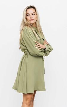 Kleid Therry - Kurzes Utility-Kleid mit langen Ärmeln