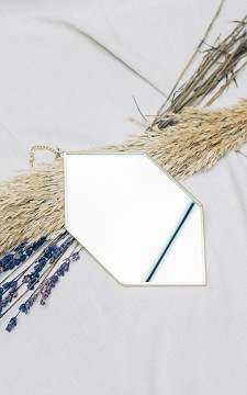 Mirror Elza - Gold coated mirror on a chain