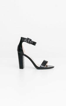 Heels Eva - Leather look heels with ankle straps