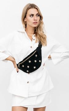 Hip Bag Stars - Ribbed fabric hip bag with stars