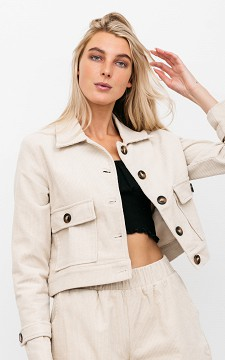 Jacket Katie - Corduroy jacket with pockets