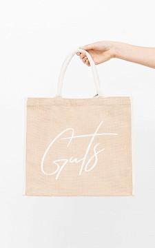 Bag Vivian - Jute bag with GUTS print