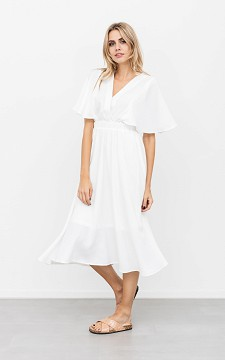 Dress Aafke - Short sleeved, V-neck dress