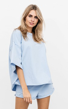 Shirt Vajen - Oversized shirt with a round neckline