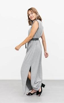 Dress Lanie - Sleeveless dress with shoulder padding