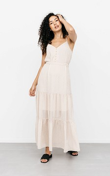 Dress Katie - Maxi dress with a waist tie