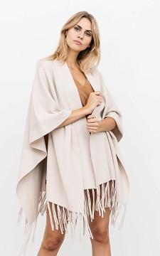 Shawl Wilke - Wrap-around shawl with fringes