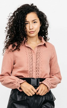 Blouse Juultje - Blouse with lace details