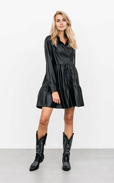 Dress Pauleen - Leather-look dress