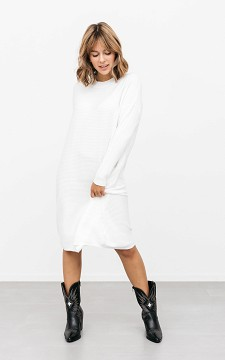 Dress Melissa - Stretchy dress with a high collar