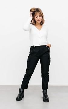 Trousers Evita - High waist cargo trousers