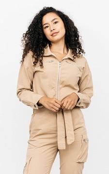 Jumpsuit Sandy - Cargo style jumpsuit with a zip