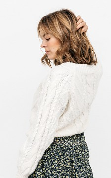 Sweater Steff - Cropped, cable knit sweater