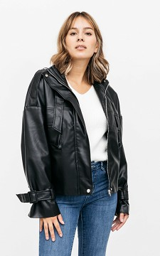 Jacket Denise - Oversized leather-look jacket