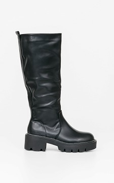 Boots Avril - Hoge boots met grove zool