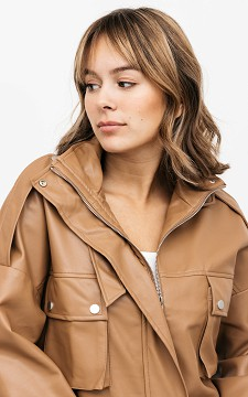 Jacke Denise - Oversized Lederlook Jacke