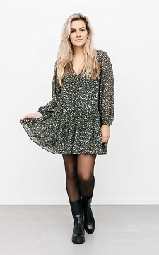 Dress Sophia - Patterned dress with buttons
