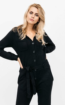 Jumpsuit Sirka - Stretchy jumpsuit with buttons