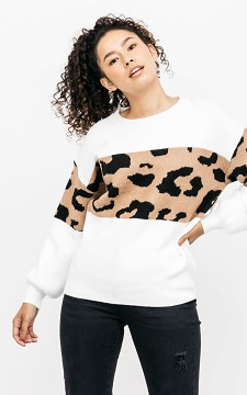 Sweater Oliver - Leopard print sweater