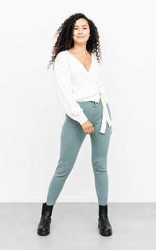 Trousers Lieneke - Trousers with a waist tie
