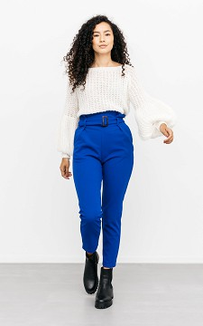 Trousers Luca - Stretchy, high waist trousers