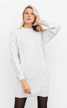 Sweater Masha - Cable knit, turtleneck sweater