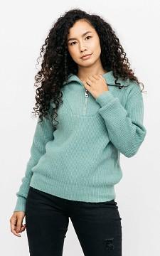 Sweater Nicole - Turtleneck zip-up sweater