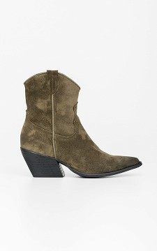 Laarsje Beth - Suède cowboy laarzen met rits