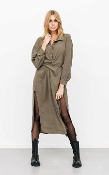Kleid Masha - Stilvolles Maxikleid mit besonderem Bindegürtel