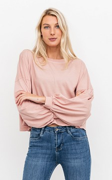 Top Annelies - Oversized & cropped top