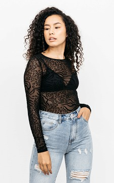 Top Jenna - See-through top with velvet