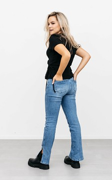 Jeans Jenna - 5-pocket high waist straight jeans