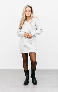 Kleid Jennifer - Stylisches Sweaterkleid mit Bindegürtel