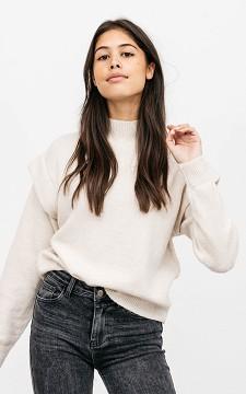 Pullover Ellen - Stehkragenpullover mit coolen Ärmeln