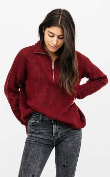 Pullover Nicki - Lässiger Sweater mit Halbreißverschluss
