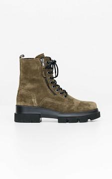 Boots Feline - Boots im Wildleder-Look mit Zierschnürsenkel