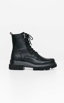 Boots Fien - Leather boots met sierveters
