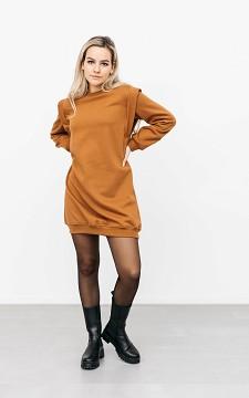 Trui Gwen - Oversized sweaterdress met schouderstuk