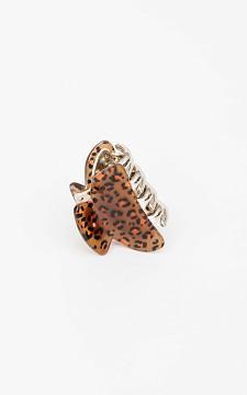 Haarclip - Haarclip met leopard print