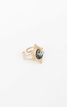 Ring Els - Goudkleurige ring met een steen