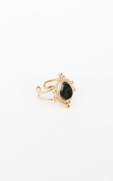 Ring Els - Goldfarbener Ring mit Stein