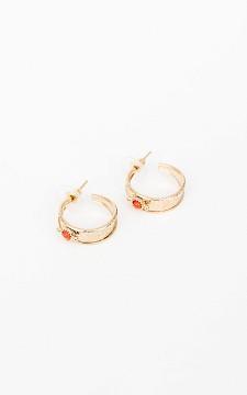 Oorbellen Lize - Goudkleurige oorbellen met gekleurd steentje