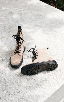 Boots Romy - Veterboots met suéde look