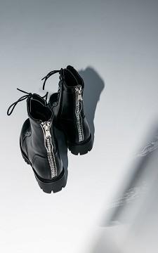 Boots Lotte - Boots met een zilverkleurige sierrits