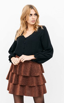 Skirt Dianna - Glittery, layered skirt