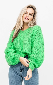 Sweater Imre - Knitted V-neck sweater