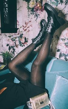 Tights Britt - 40 DEN patterned tights
