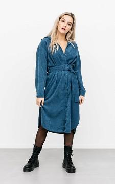 Dress Cilo - Corduroy dress with a belt