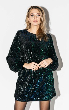 Jurk Annika - Pailletten jurk met een strikdetail