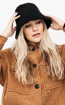 Hoed Arinda - Suède look teddy bucket hat